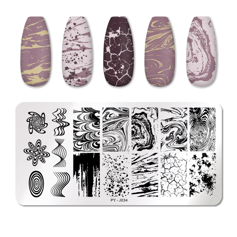 PICT YOU 12*6cm Nail Art Templates Stamping Plate Design Flower Animal Glass Temperature Lace Stamp Templates Plates Image 73