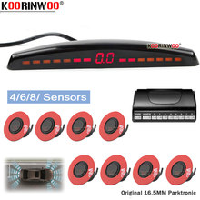 Koorinwoo – capteur de stationnement électromagnétique plat, moniteur de voiture avec capteur 4/6/8, Radar de stationnement inversé, détecteur de Buzzer, aide au stationnement