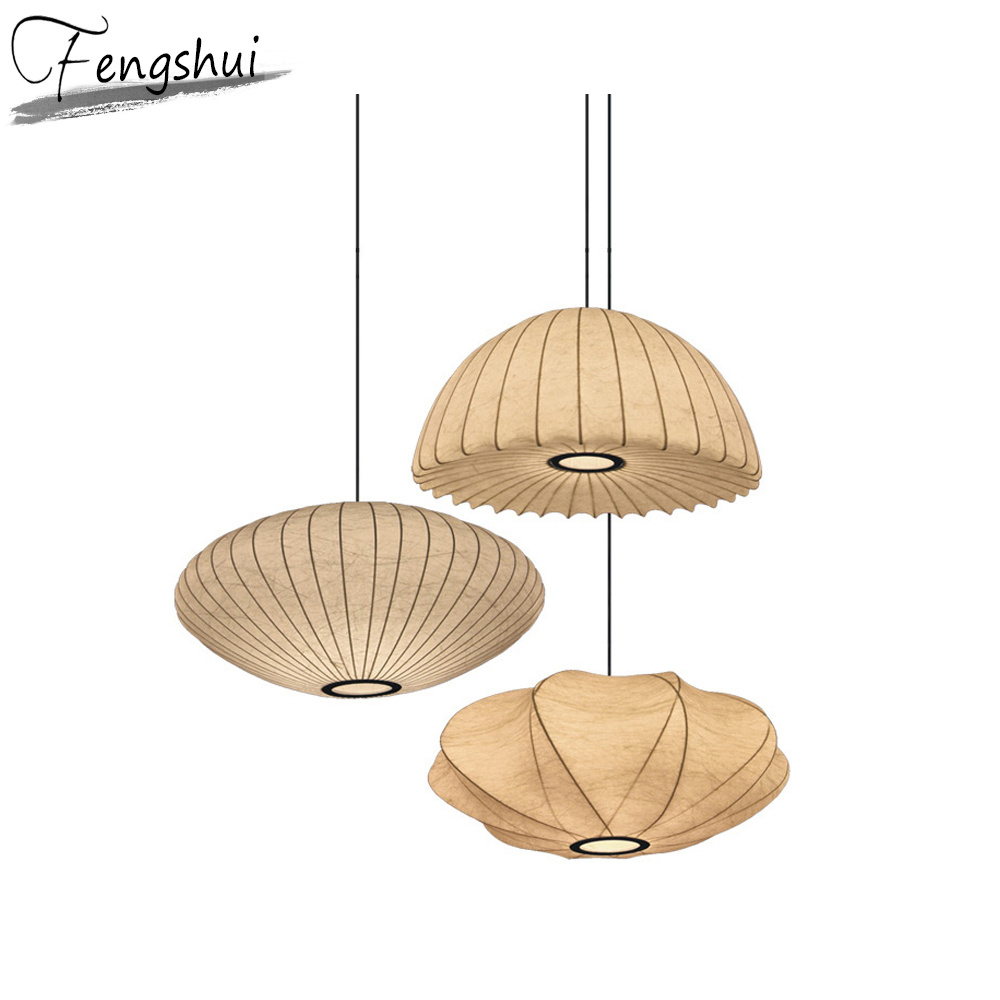 Japan Style LED Pendant Lights Lighting Lantern Pendant Lamp Dining Living Room Restaurant Hotel Kitchen Fixtures Hanging Lamp