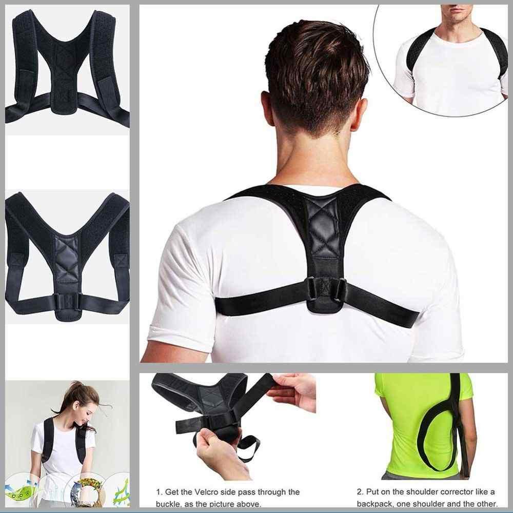 Corrector de postura de alta calidad soporte de espalda mujeres hombres ajustable deportes seguridad espalda soporte corsé correa de soporte de columna vertebral