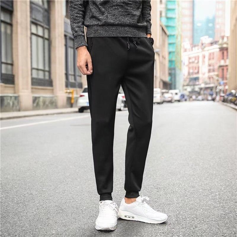 Men's Quick Drying Pants Casual Pants Winter Men's Athletic Pants Lace-up Slim Fit Pants MEN'S Trousers Students Hair Stylist Fa