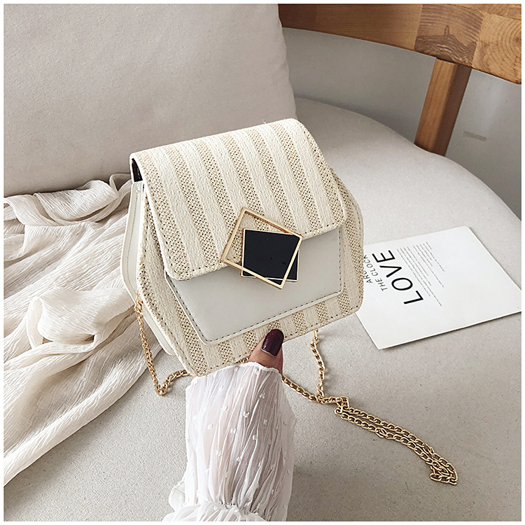 Mini Bag Girl 2019 New Korean Edition Fresh and Popular Fashion Chain PU Slant Bag Personal Bag Mobile Geometric Bag Clothes 82