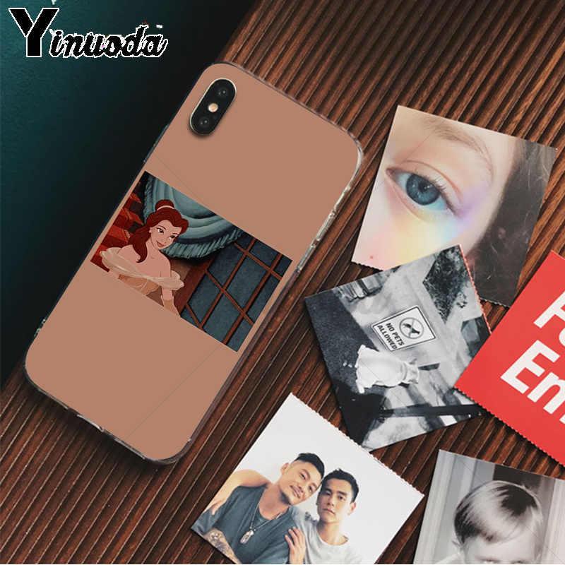 Yinuoda Peri prenses prens Yenilik Fundas telefon kılıfı Kapak için Apple iPhone 8 7 6 6S Artı X XS MAX 5 5S SE XR Cep Telefonları