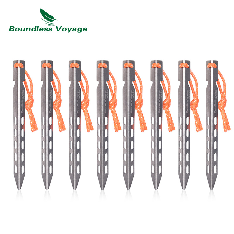 Boundless Voyage Titanium Tent Pegs Outdoor Camping Tent Stakes Tent Accessories Heavy Duty Aluminum Alloy Pegs Nails