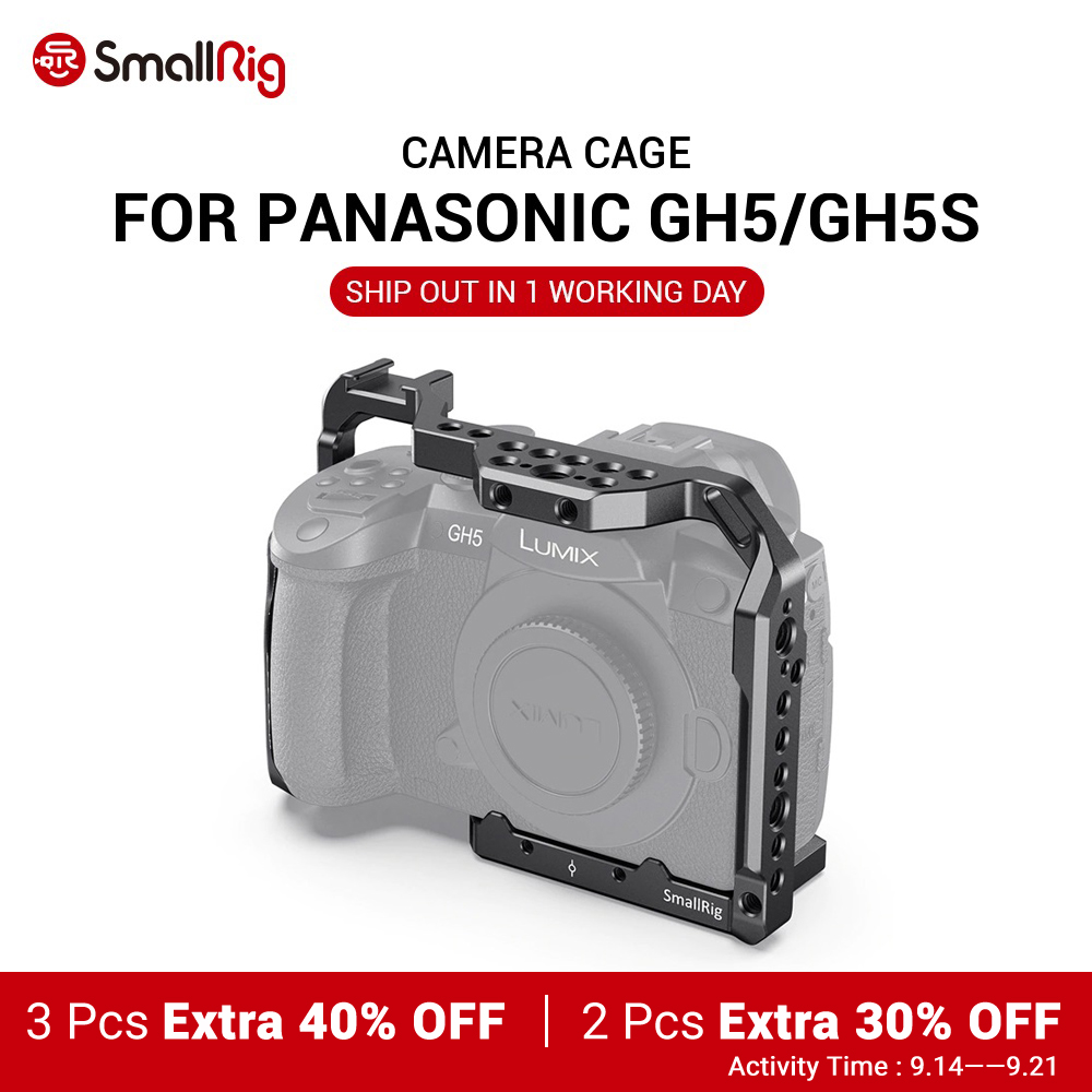 Camera Cage Monitor-Holder Smallrig GH5S W/cold-Shoe-Mount Options for Panasonic