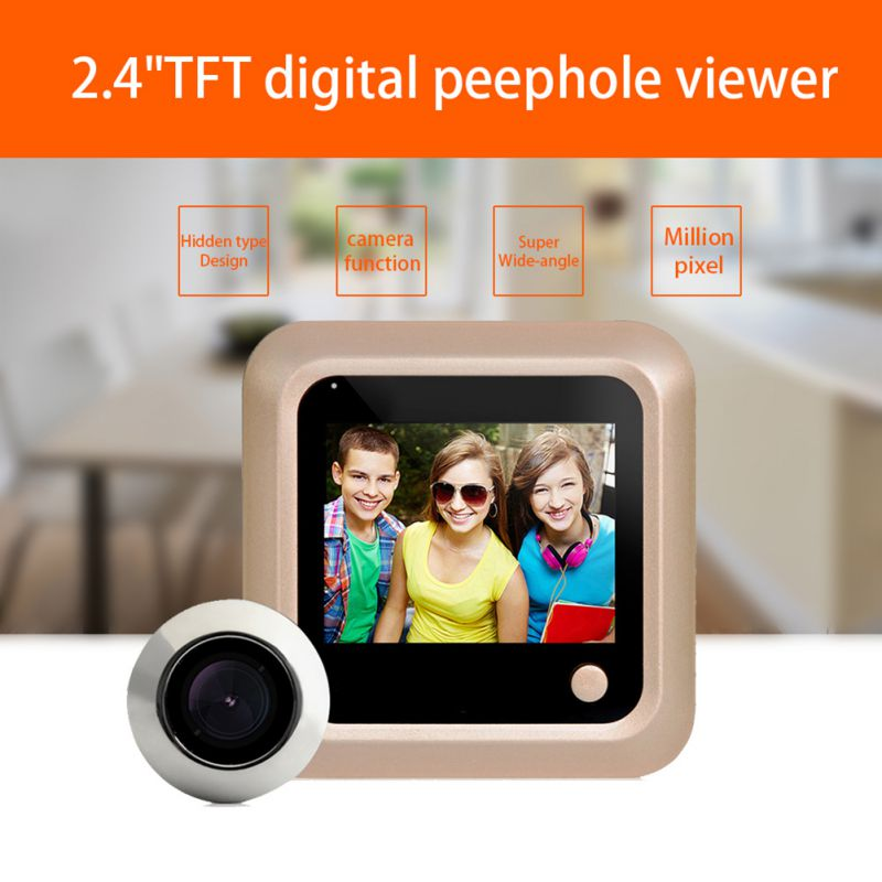 2.4inch HD Clear Screen Digital Door Viewer Monitor Home Security Peephole Doorbell Camera