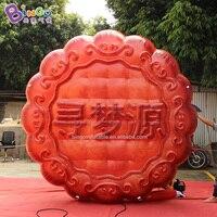 Customized 10 feet inflatable moon cake balloon / advertising inflatable moon cake mold toys