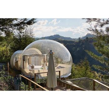 Przezroczysta bańka z tunelem dostosowany namiot ślubny prezentacja bańka Hotel bańka kopuła dom Igloo namiot tanie i dobre opinie CHIMEI TIME Z tworzywa sztucznego 7-12y 12 + y 18 + CN (pochodzenie) Inflatable bubble tent Nadmuchiwana inflatable bubble hotel