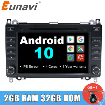 Eunavi 2 din Android 10 Autoradio Car DVD radio gps for Mercedes Benz B200 A B Class W169 W245 Viano Vito W639 Sprinter W906 IPS image