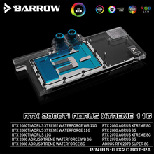 BARROW Water Block use for GIGABYTE RTX2080Ti AORUS XTREME 11G/2070AORUS 8G/Support Original Backplate 5V 3PIN Header RGB