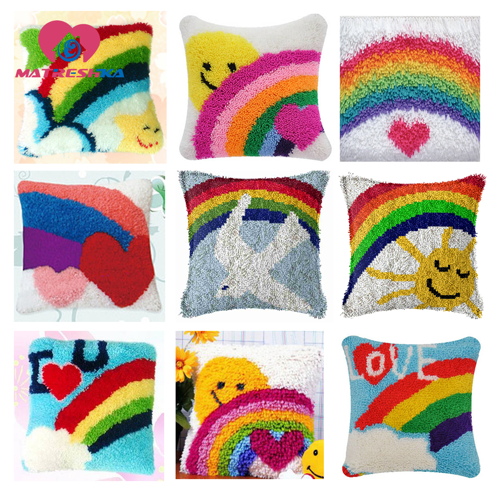 Embroidery Kit Cross Sch Pillow