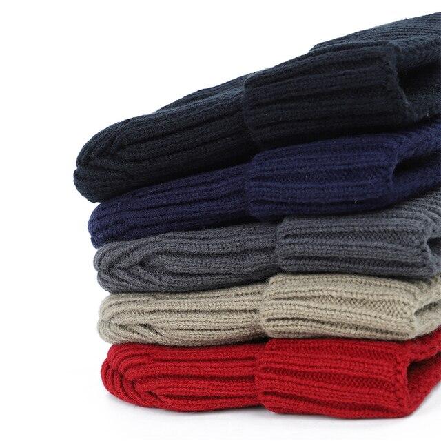 winter men's hat letter label velvet thick 2