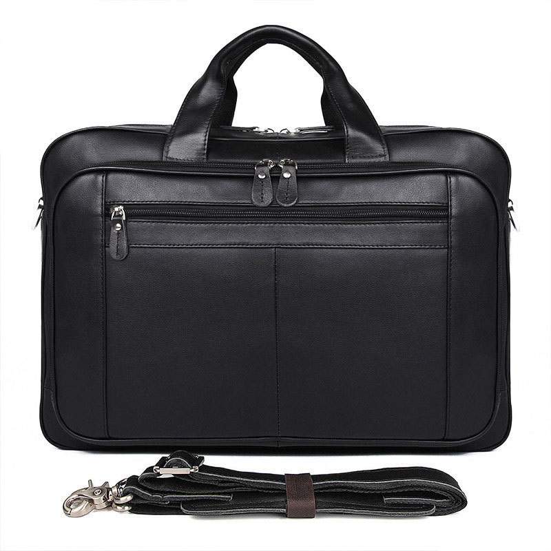 Genuine Leather Briefcase Quality 17 Inch Business Men Leather Bag Men Messenger Laptop Bag 17 Inch Maletines Hombre