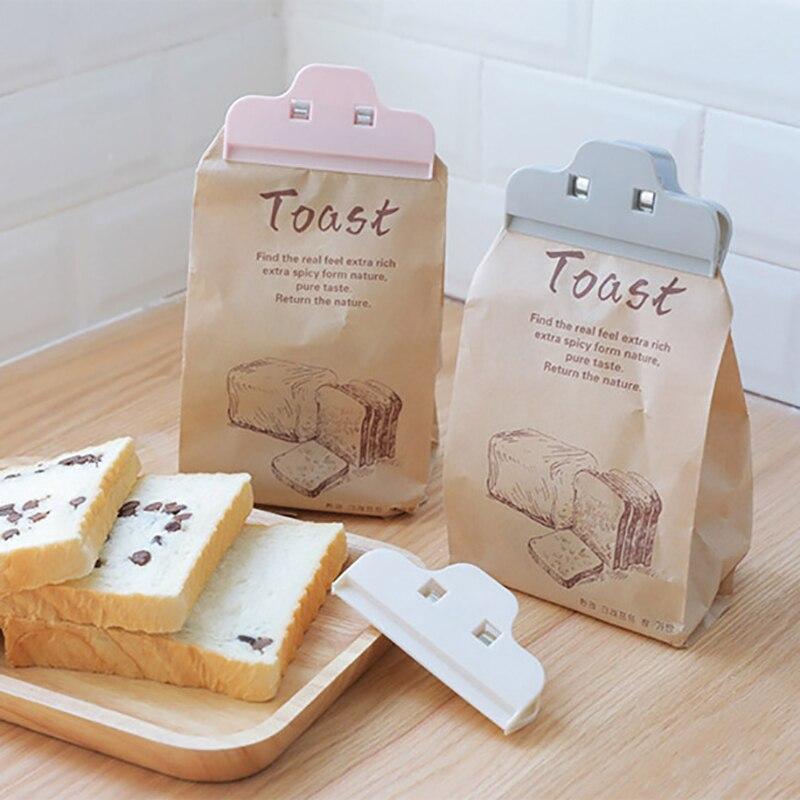 3pcs Portable Food Bag Sealer Sealing Plastic Bag Clip for Kitchen Storage Snack Fresh Food Storage Bag Clips Kitchen Gadgets