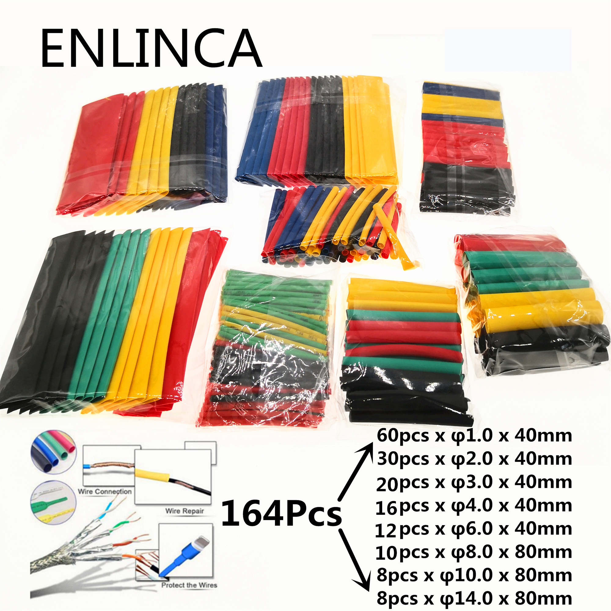 Sleeving-Tubing-Set Heat-Shrink-Tube Shrinking Insulated Wire-Cable Assorted Polyolefin