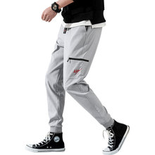 Pantalones Gris Negro Verde Pantalones casuales Hombres Cintura elástica