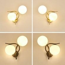 купить New Nordic Led Bedroom Bedside Wall Lamp Creative Simple Living Room Hotel Bedside Lamp Lights Bathroom онлайн