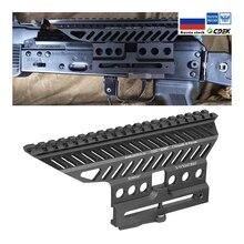 ZENIT russe ak AK47 74 47 B 13 CNC Aluminium 20mm M47 qd Rail latéral rouge point portée socle de montage Picatinny Cerakote chasse