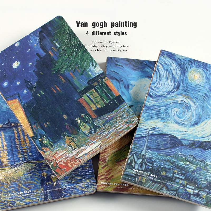 Van Gogh Notepad Note Book Sketchbook Notebook Bullet Journal Filofax Agenda Diary Papelaria Schedule  Weekly Planner School  A5