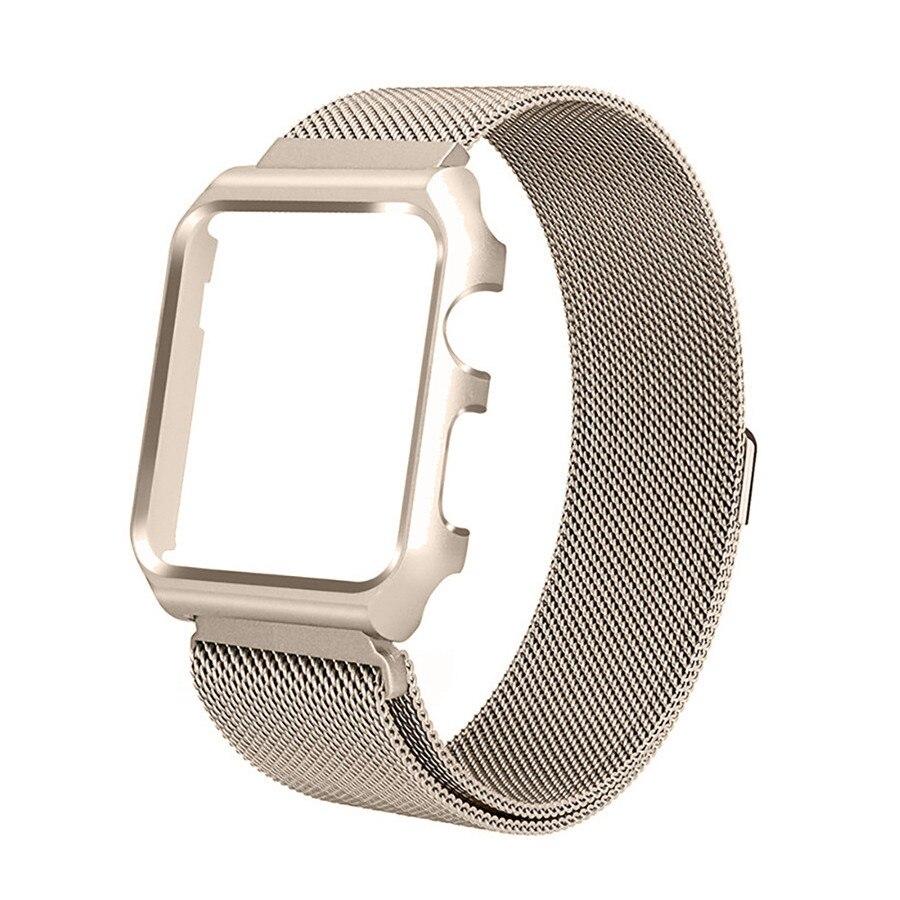 aço inoxidável bandas à prova choque magnético para iwatch