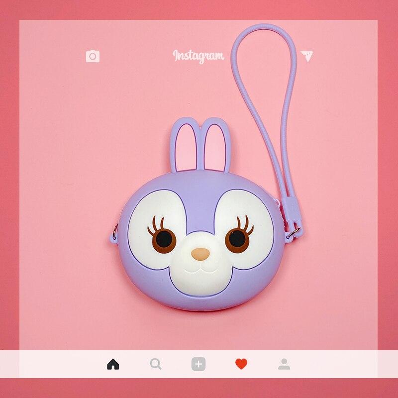 Portable Multi-Functional Cute Cartoon Baby Girl Purse Mini Zipper Coin Purse Soft Silica Gel Kids Kawaii Small Coin Wallet