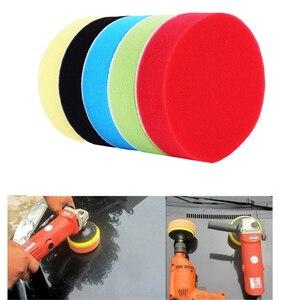 Image 2 - 5 Pcs 3 7 Inch Buffing Polishing Pad Flat Sponge Buffing Polishing Pads Kit For Car Auto Polisher Glass Polishing