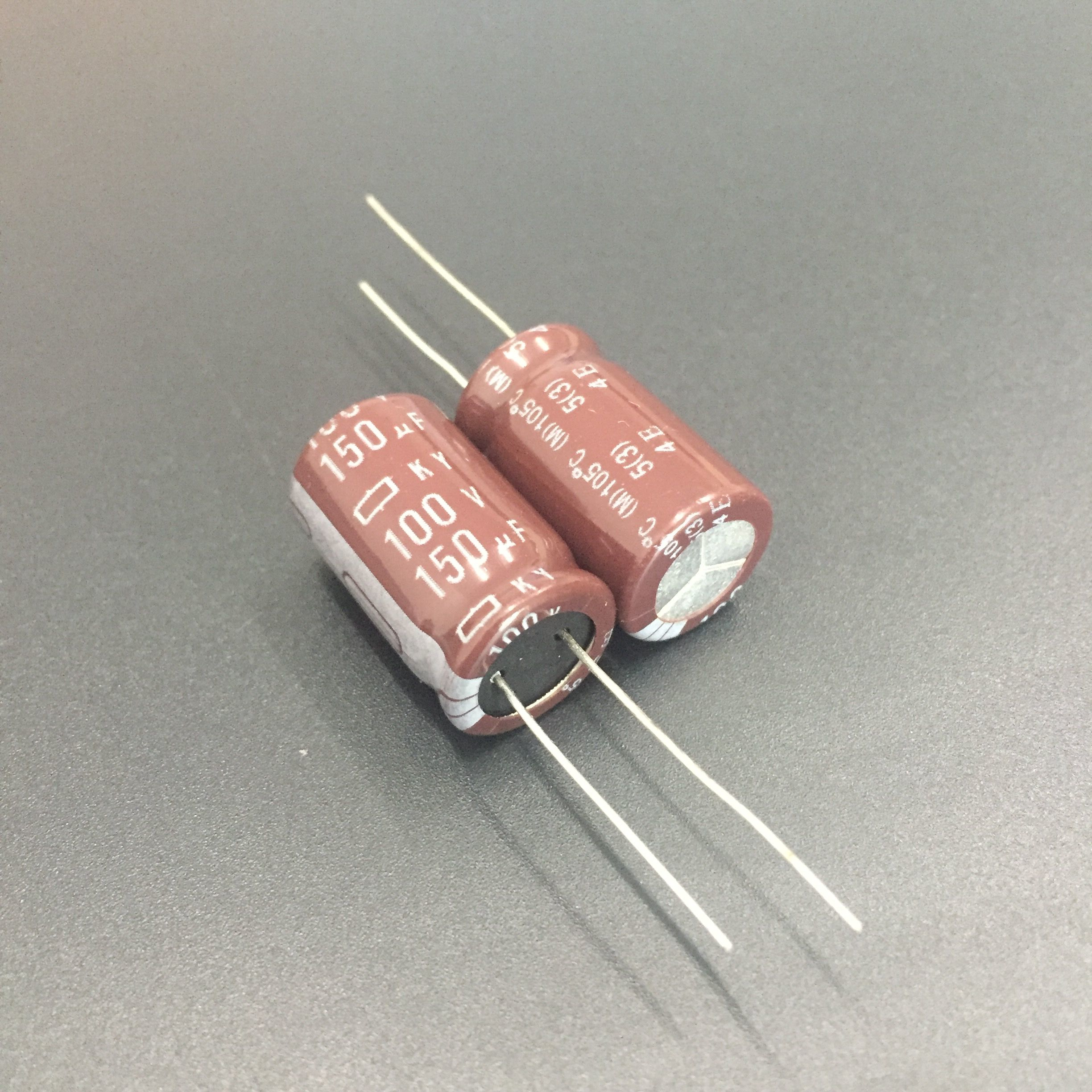 5Pcs/50Pcs <font><b>150uF</b></font> <font><b>100V</b></font> NCC KY Series 12.5x20mm Low ESR 100V150uF Aluminum Electrolytic Capacitor image