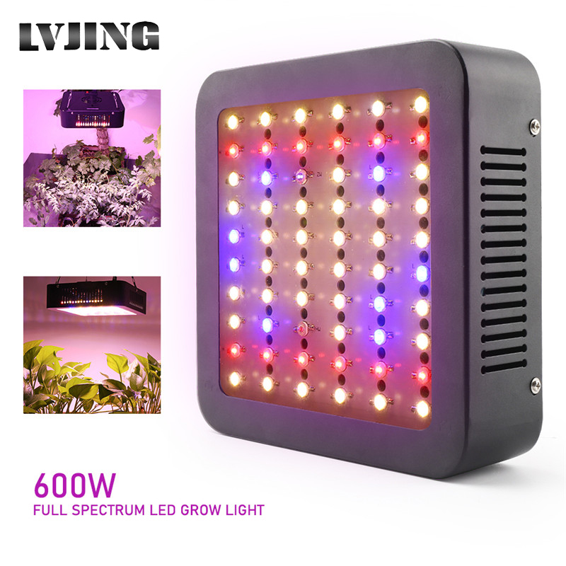 600W Full Spectrum LED Plant Grow Light Lamp For Plant Indoor Nursery Flower Fruit Veg Hydroponics Grow Tent Dual Chip Fitolampy