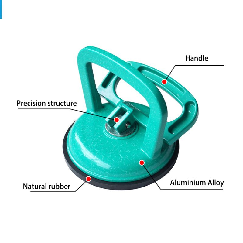 Glass Suction Cup Heavy Duty Aluminum Vacuum Puller Handle Hooks To To Lifting