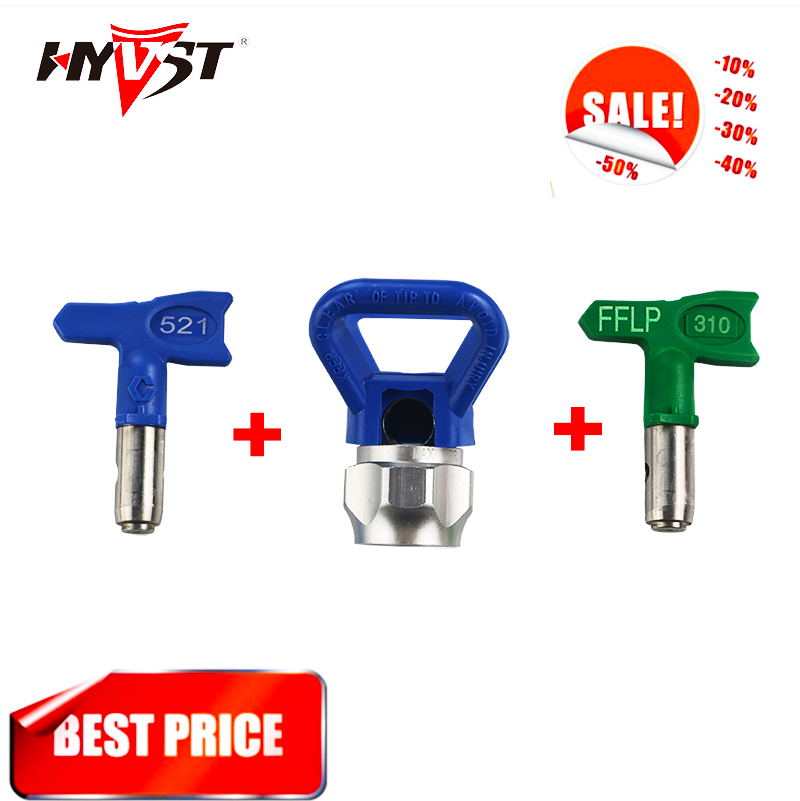 Airless Tips Heavy-Duty Tip Guards And Longest Lasting Tips Spray Tip And Low Pressure Tip Of Three Parts (three-piece)