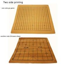 Jeu d'échecs chinois en cuir suédé, résistant à l'usure, Standard International 19 line Go