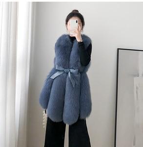 Image 3 - ZDFURS* Women Real Fox Fur Vest Belt Natural Fox Fur Gilets Warm Winter Ladies Luxury Fur Waistcoat
