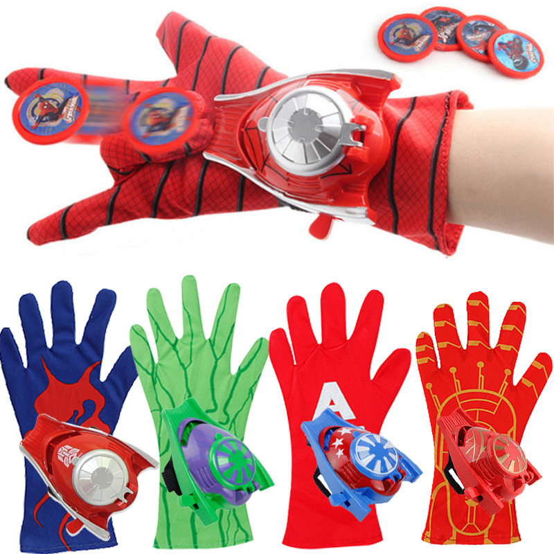 New Disney Marvel Avengers Cosplay Superhero Gloves Captain America Spiderman Hulk Ironman Launcher Children s Halloween