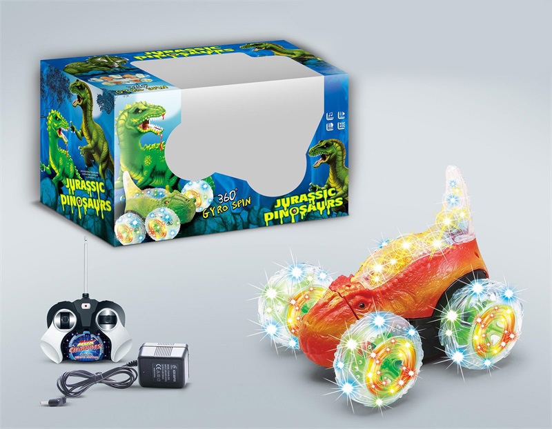 New Products Rechargeable Remote Control Car CHILDREN'S Toy Car Tumbling Stunt Car Flipping Electric T-Rex Dump Truck