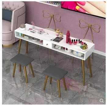 Nail art table special economical single table and chair set double simple modern Nordic online celebrity - DISCOUNT ITEM  26 OFF Furniture