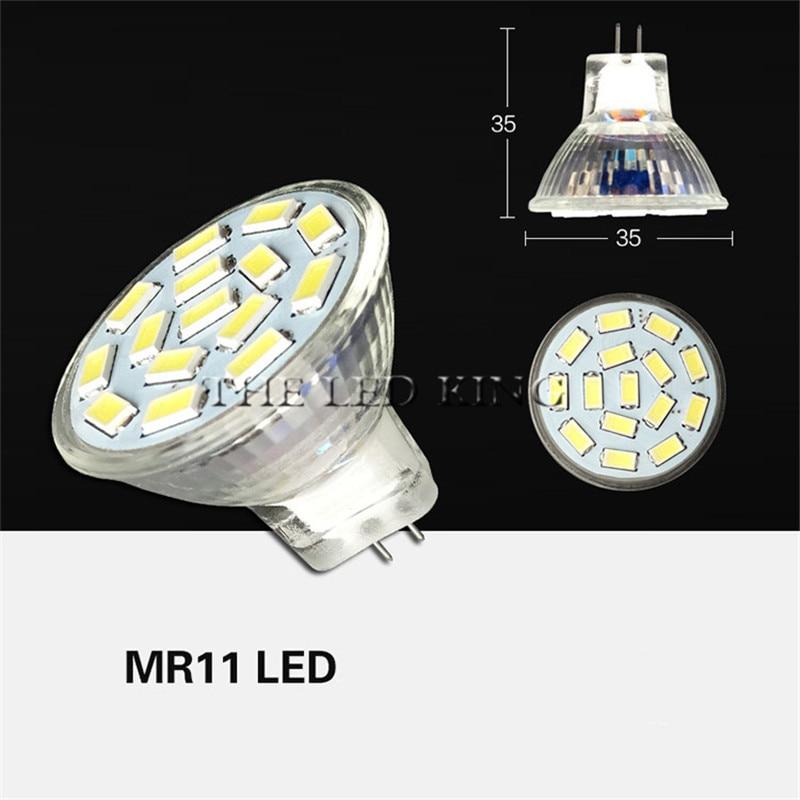 1 шт. лампа GU4 с регулируемой яркостью AC/DC 12 В 3 Вт 5 Вт 7 Вт 5730 SMD Светодиодный прожектор Mr11 Светодиодный прожектор заменить галогенный прожекто...