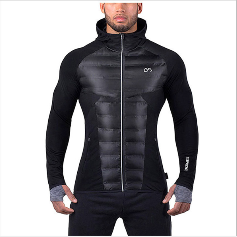 Winter Jacket Men's Thick Warm Sports And Leisure Parker Coat Men's Cold And Windproof Running Hooded Cotton Jacket Is Very Warm