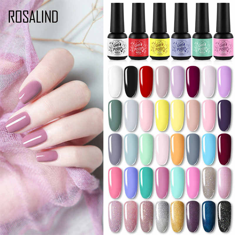 Rosalind Nail Gel Polish 8 Ml Losweken Uv Lamp Semi Permanente Nagels Art Lak Alle Voor Manicure Gellak Polish hybrid Vernissen