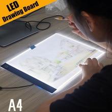 Ultra Sottile A4 HA CONDOTTO LA Luce Pad Artista Light Box Da Tavolo Tracing Tavolo da disegno Pad Pittura Del Ricamo Diamante Strumenti