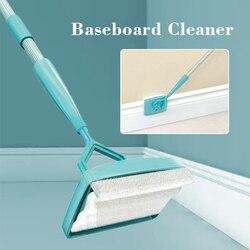 Wysuwana szczotka do czyszczenia włókna rama drzwi Mop listwa przypodłogowa Mop aluminium + plastik + podkładka z mikrofibry Mop domowy w Mopy od Dom i ogród na