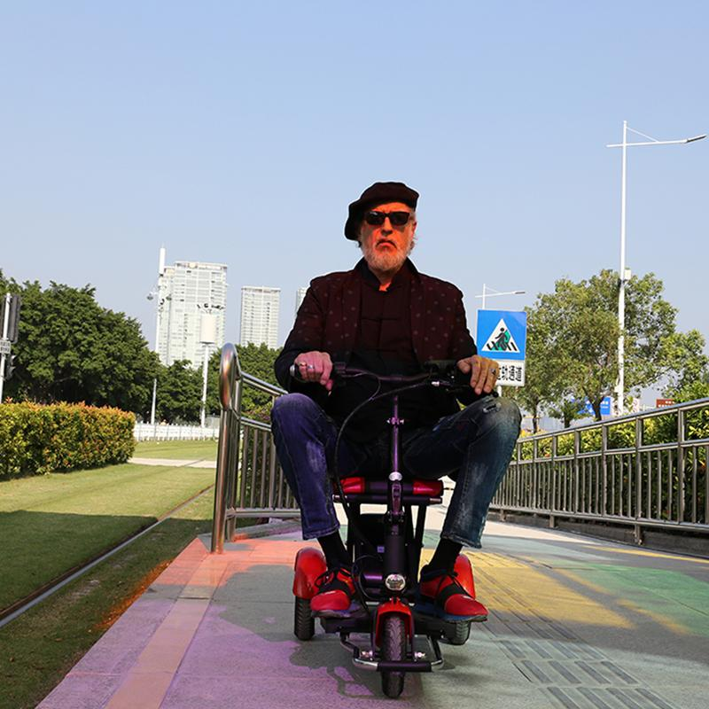 Electric Kick Scooter Adult Three Wheel Electric Scooters Tricycle 36V 300W Portable Folding Electric Elderly Scooter (1)