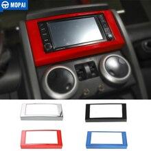 Pegatinas para Panel de CD de navegación de tablero de para coches MOPAI, cubierta de marco decorativo para Jeep Wrangler JK 2013 2018, accesorios de coche con estilo