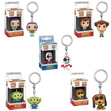 FUNKO  POP Toy Story Woody Froky Slinky Dog Alien keychain Pocket Keychain Vinyl Action Figure Toys For Children Christmas Gift 2017 funko pop batman action figure toys plastic vinyl figures desk toys birthday christmas gift for kids children