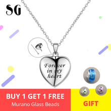 New listing 925 Sterling silver forever in my heart pendant cremation urn necklace chain for Women memorial Jewelry
