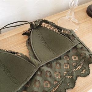 Image 5 - เพียง Bra,ดอกไม้ Hollow OUT Brassiere เซ็กซี่ลวดผู้หญิงเซ็กซี่ bralette ชุดชั้นในสบายชุดชั้นใน pullover Bra