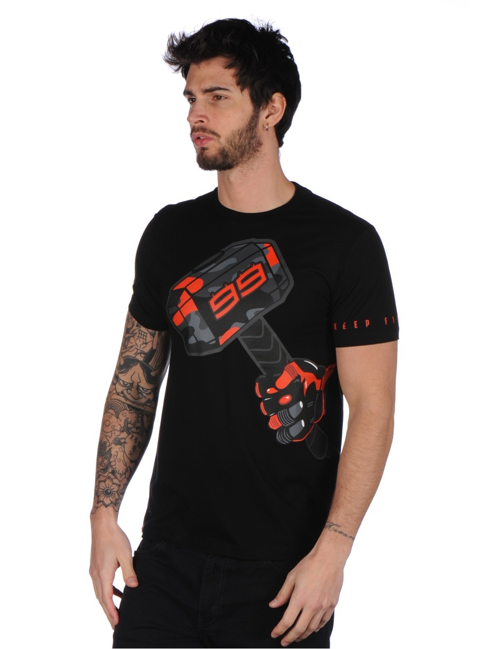 Frete grátis moto gp jorge lorenzo 99 moto martelo motor esportes verão masculino camiseta preto
