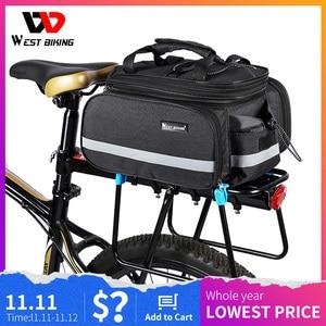 Image 1 - WEST BIKING Bicycle Bags Large Capacity Waterproof Cycling Bag Mountain Bike Saddle Rack Trunk Bags Luggage Carrier Bike Bag