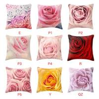 Rose Polyester Sofa Pillowcase Valentine's Day Throw Pillows Case Decorative Cushion Cover Pillowcase Home Decor 45x45cm1