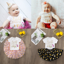 Suit Dress Cake-Outfits Short-Sleeve Cute-Set Birthday-Party Baby-Girls Half-Way Tutu