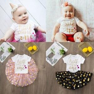На полпути, чтобы один день рождения праздничное платье пачка торт; Одежда для маленьких детей; Одежда для маленьких девочек розовый милый л...